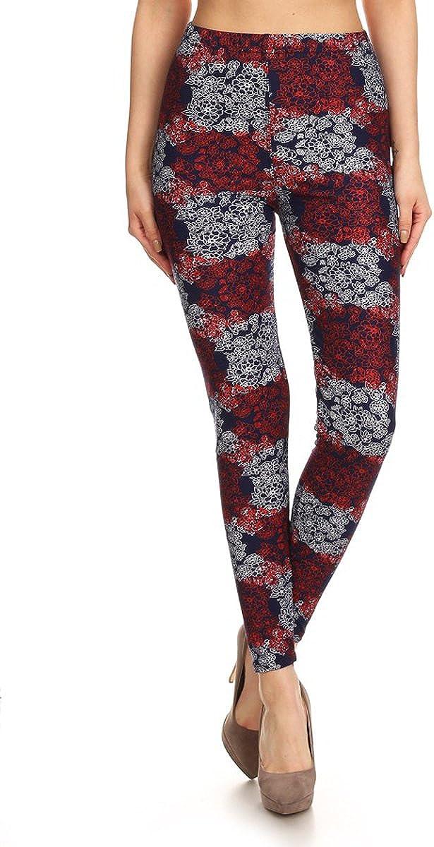 Leggings Depot Ultra Soft Womens Popular BEST Printed Fashion Leggings Batch7