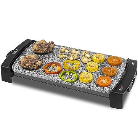 Cecotec rock&water 2500 plancha de asar eléctrica de gran potencia, apta para limpieza en lavavajillas, con revestimiento de piedra rockstonec, ...