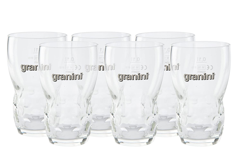 6 Granini Gläser mit Eichstrich 0,1l