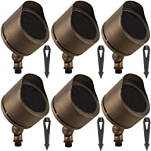 LFU Pack of 6 Cast Brass Constructed Flood/Spot Lights. Requires PAR36 Bulbs. Low Voltage. Model LF2009AB Marshall.