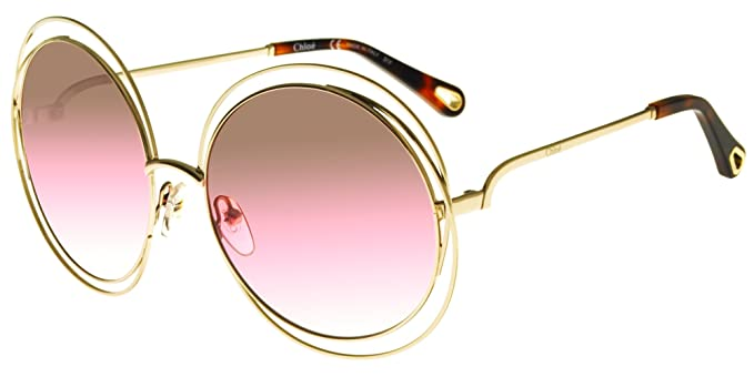 3d641d59 Sunglasses CHLOE CE 114 SD 813 GOLD/BROWN ROSE SAND LENS at Amazon ...
