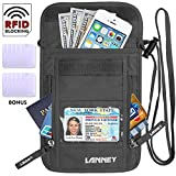 Neck Wallet Travel Pouch RFID Blocking Traveling Passport Holder for Women Men