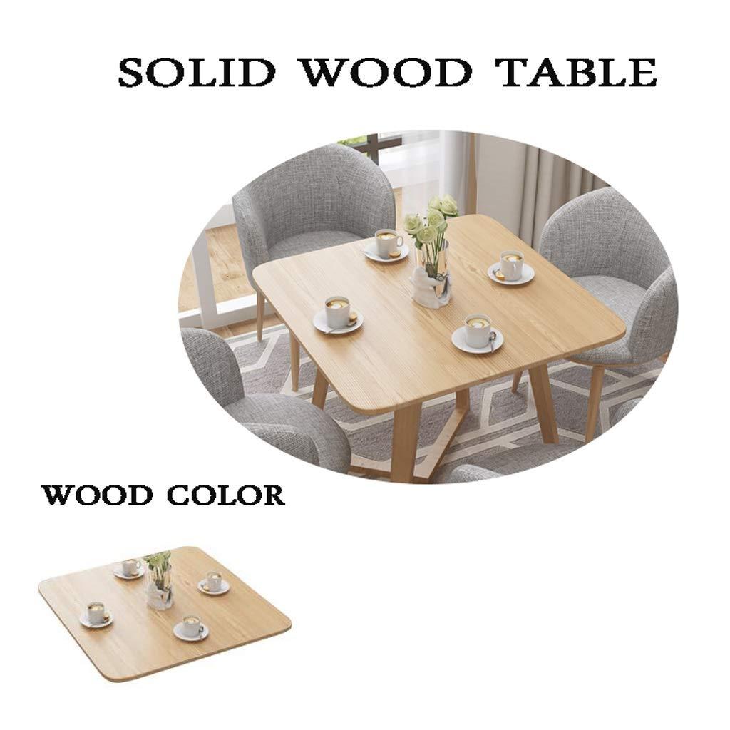 Bords- och stolkombinationförhandling, bord och stolar set 5 massivt trä bord matsal kök möbler fritid café tebutik bibliotek mottagningsrum hotell enkel kreativ kafé Khaki