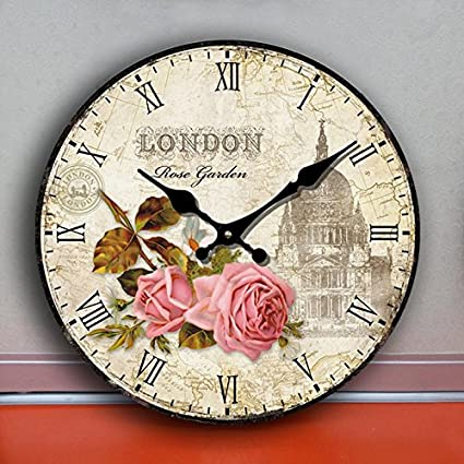 Mudo mudo reloj relojes grandes pared reloj pared reloj arte creativo europeo moderno flor simple pared