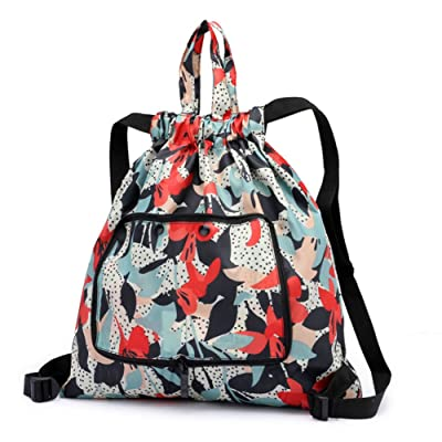 ArmoFit Women Drawstring Backpack Bag Sport Foldable for Travel Campus and Gym