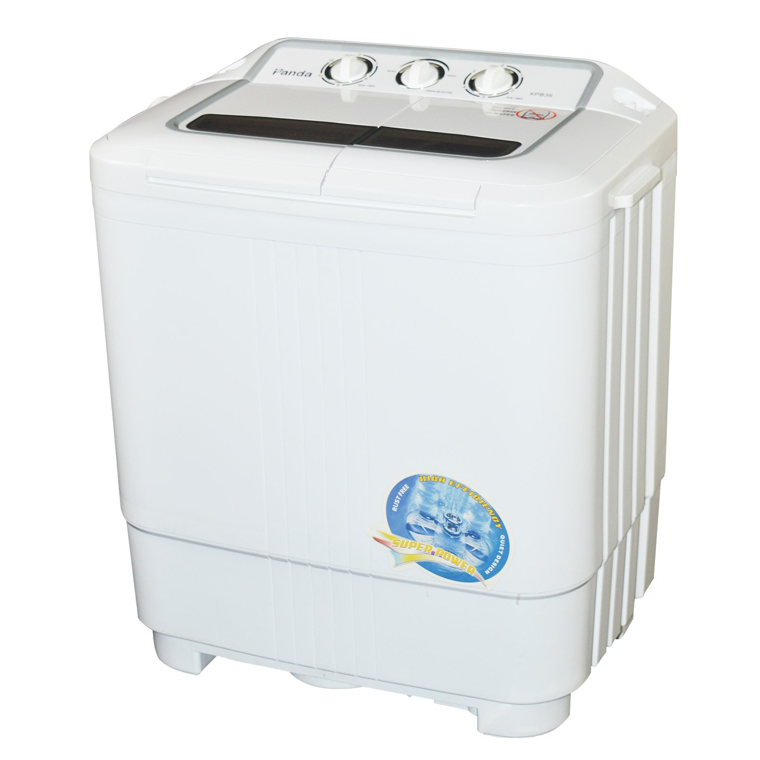 Panda Small Compact Portable Washing Machine 7.9lbs Capacity with Spin Dryer