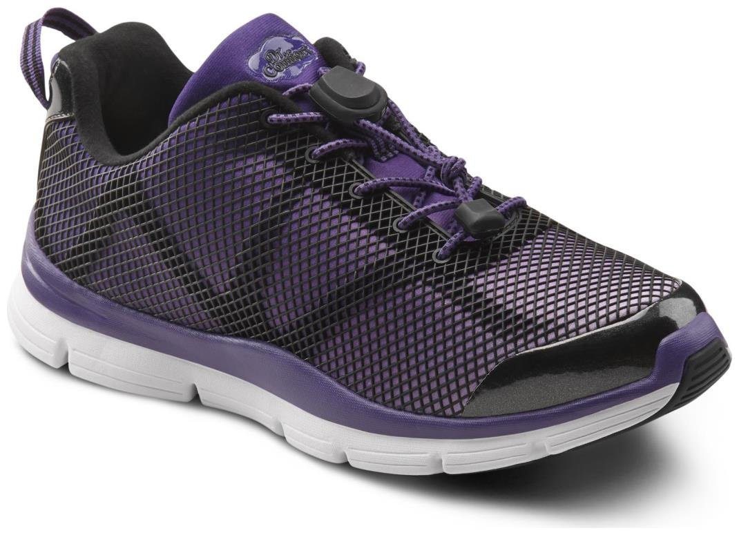 Dr. Comfort Womens Katy Purple Diabetic Athletic Lace Shoe - 7.5 Medium (A/B)