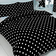 King Size Bed Polka Dot Black / White, Duvet / Quilt Cover Bedding Set, BY MY HOME, Modern Spot Dot Design by MyHome