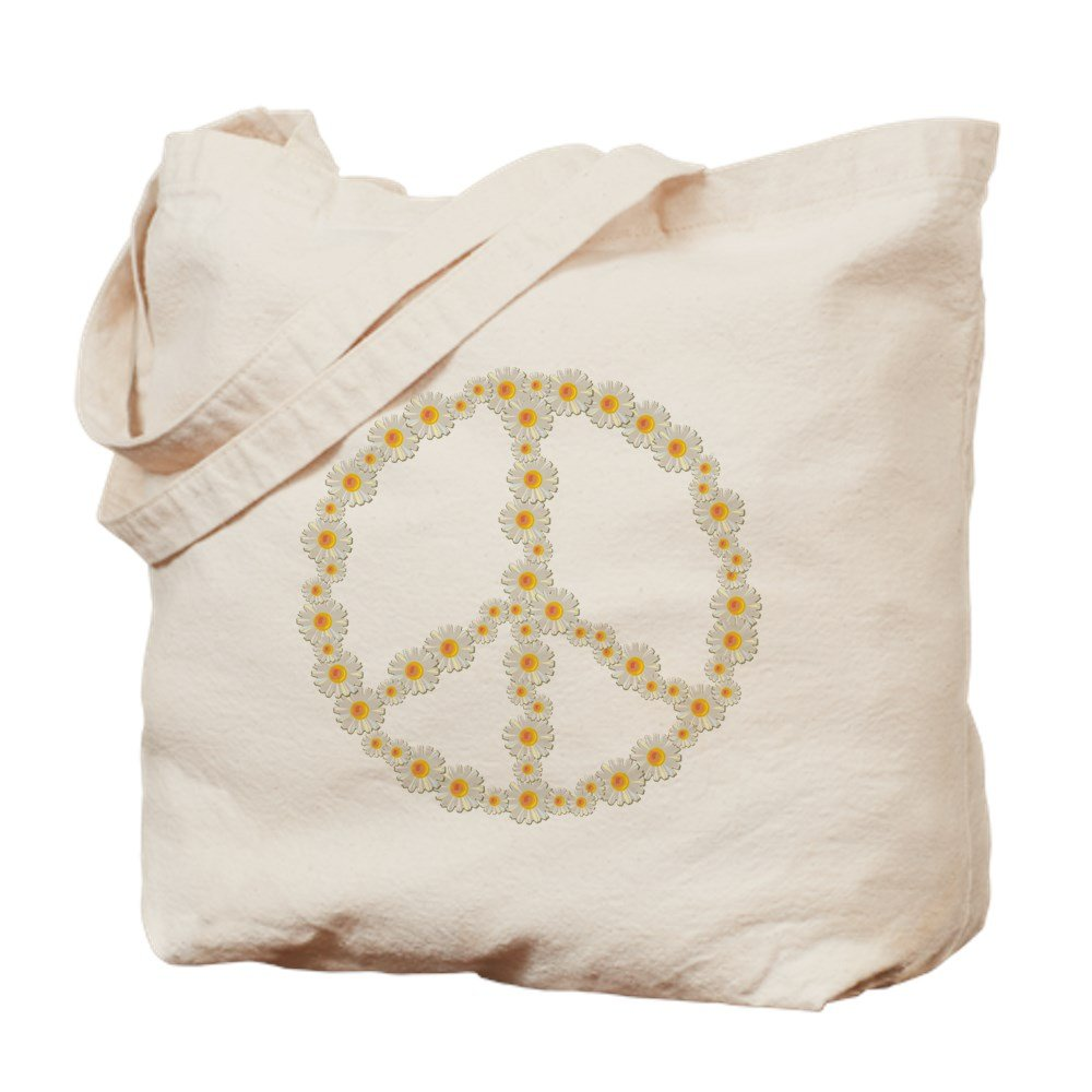 CafePress – Flower Peace – ナチュラルキャンバストートバッグ、布ショッピングバッグ B01JN9BUM0