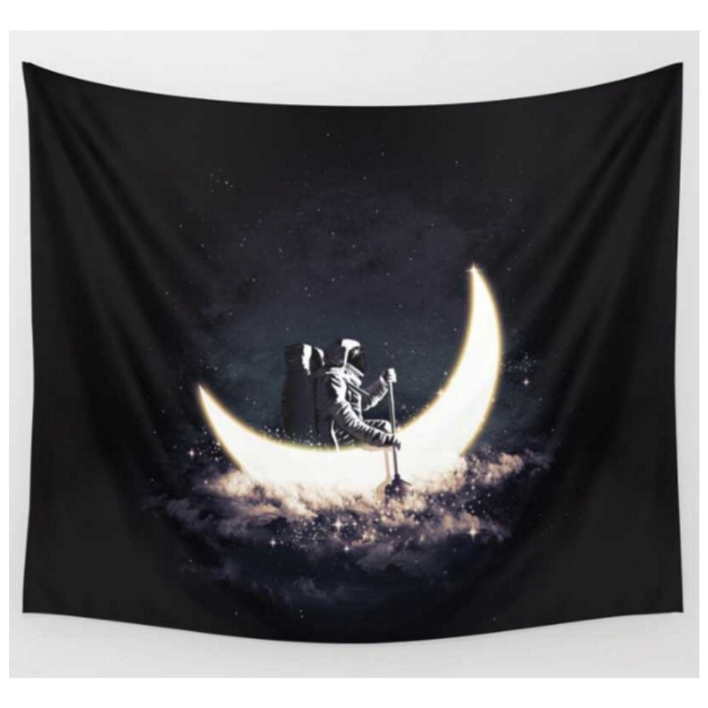 ROCOSS New Solar System - Planet Moon. - Fabric Wall Tapestry Home Decor - 51x60 inches (2, M:51''X 59''/130cm X 150cm)