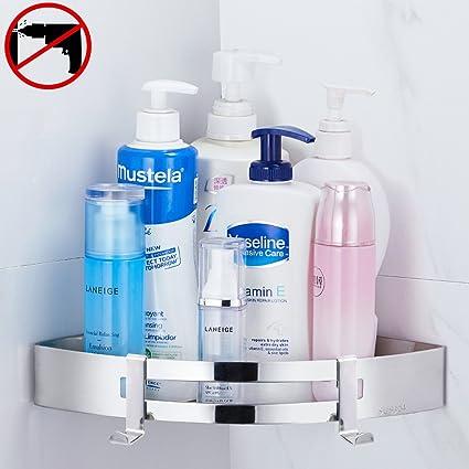 Gricol Bathroom Corner Shower Shelf Wall Shower Caddy Stainless ...