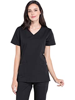 fda7ab74b12 Amazon.com: Cherokee Women's 4800 Mini Mock Wrap Scrub Top: Clothing