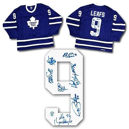 ffd61d08b Toronto Maple Leafs 1990s - 8 Player Autographed Mass Replica Hockey ...