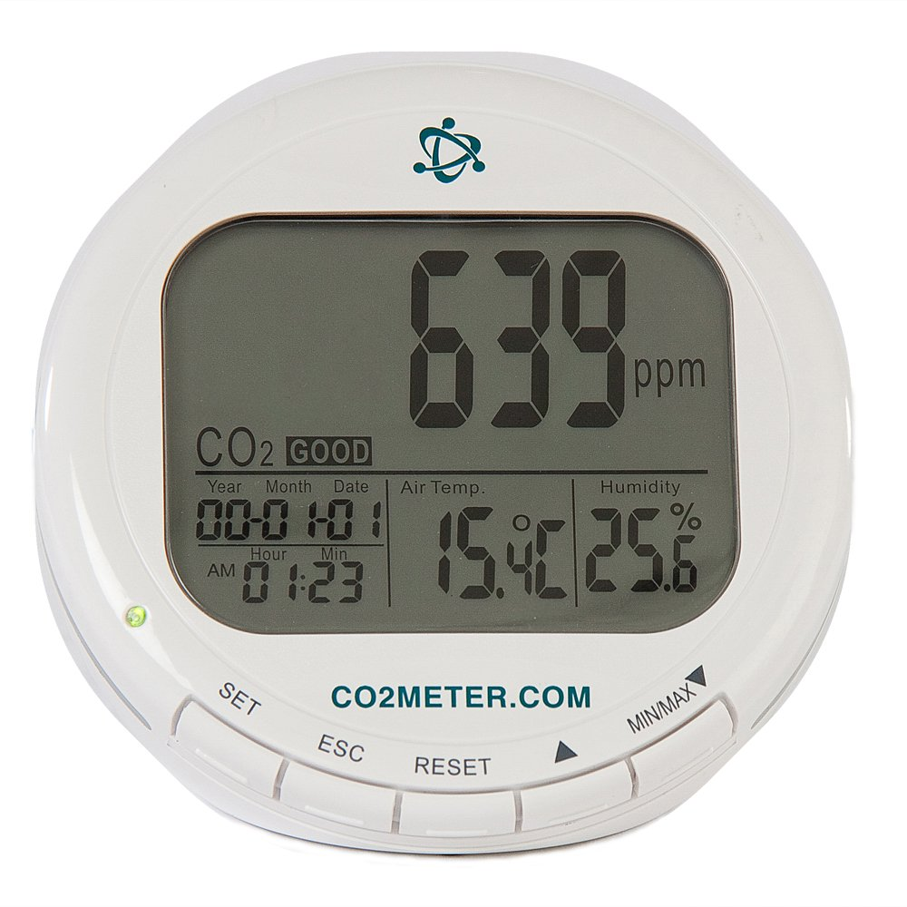 CO2Meter AZ-0004 Indoor Air Quality CO2 Meter, Temperature and Relative Humidity, White by CO2Meter