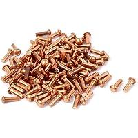 Sourcingmap–® 2mm x 6mm Ronda eje cobre macizo