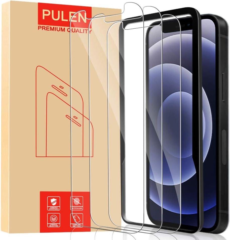 [3 Unidades] POVINMOS Protector de pantalla para iPhone 12 / iPhone 12 Pro (6.1 inch) [Sin burbujas] [Anti-huella digital] [Anti- Arañazos] [HD] Cristal Templado Vidrio Templado