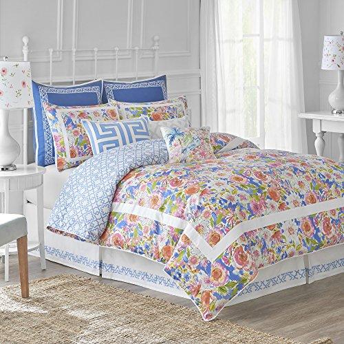 - Dena Home Chinoiserie Garden Comforter Set, Queen, Multicolor