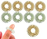 Spiky Sensory Finger Rings (Pack of 10) – Great Fidget / Sensory Toy for Kids and Adults