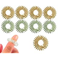 Spiky Sensory Finger Rings (Pack of 10) - Great Fidget / Sensory Toy for Kids and Adults