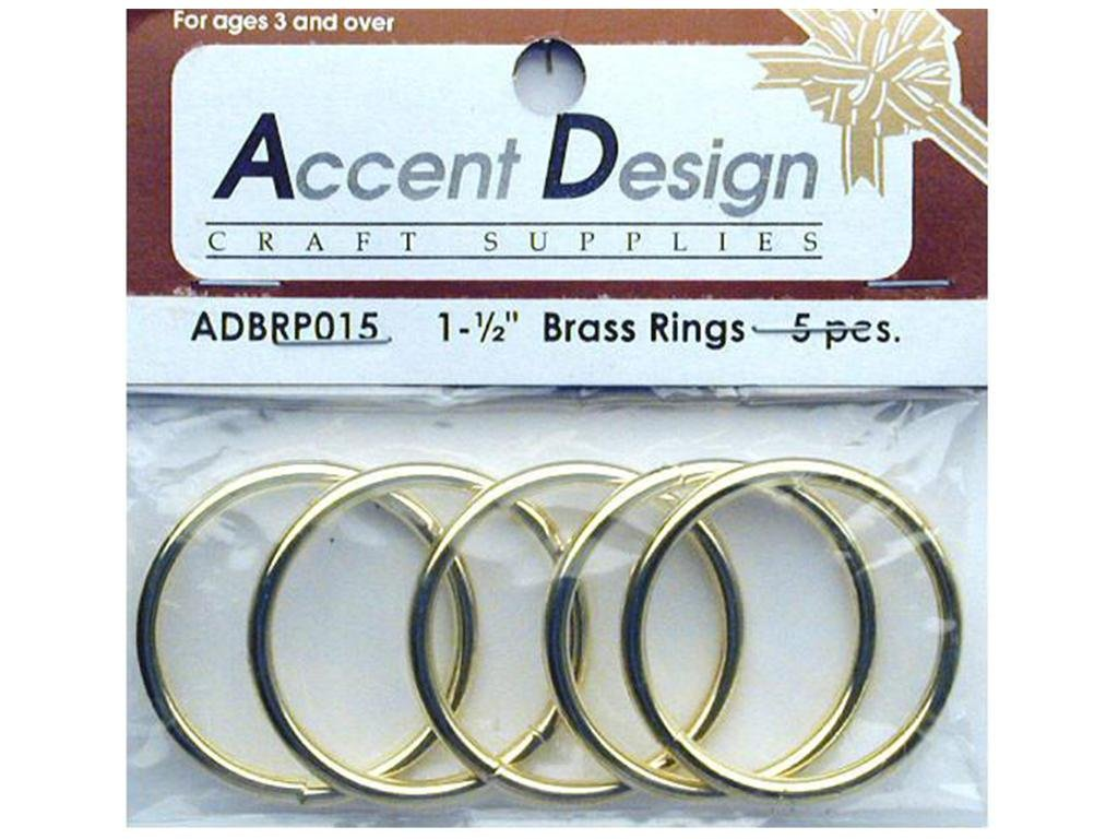 Brass Rings Packaged 1.5 5 pc PA Essentials 00-NK1HPG-24