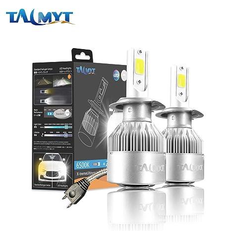 H7 LED COB Luces Delanteras del Coche Kit 3800LM 6500K Lámparas de luz Blanca Bombillas