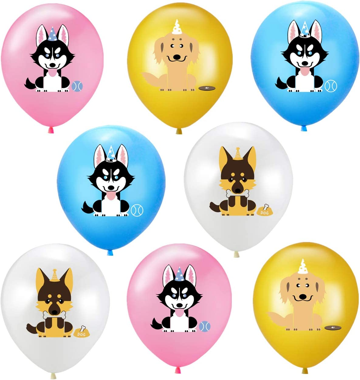 Elecrainbow 20 Pack Dog Balloons for Paw Patrol Birthday Party Dog Animal Rescue Events Puppy Party