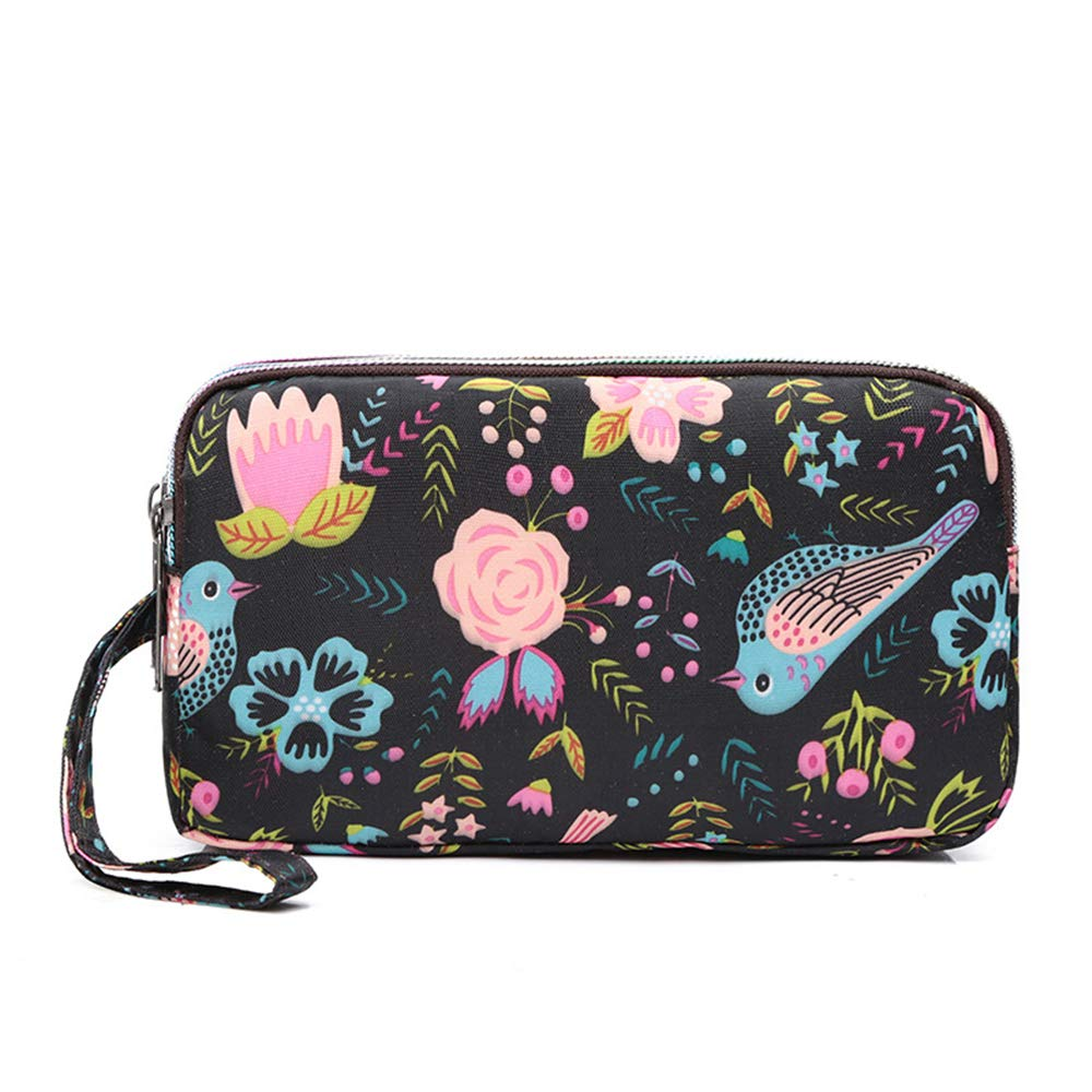 WeoHau Fashion Canvas Ladies Wallet Purse Large Capacity Multi-Function Coin Purse Clutch