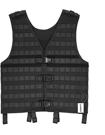 ef38bea87e928 Lixada Tactical Vest Military Airsoft Vest Adjustable Breathable Combat  Training Vest for Outdoor Hunting