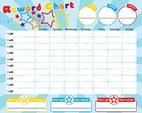 Amazon.com: Magnetic Reward/Star Chart for Motivating Children ...