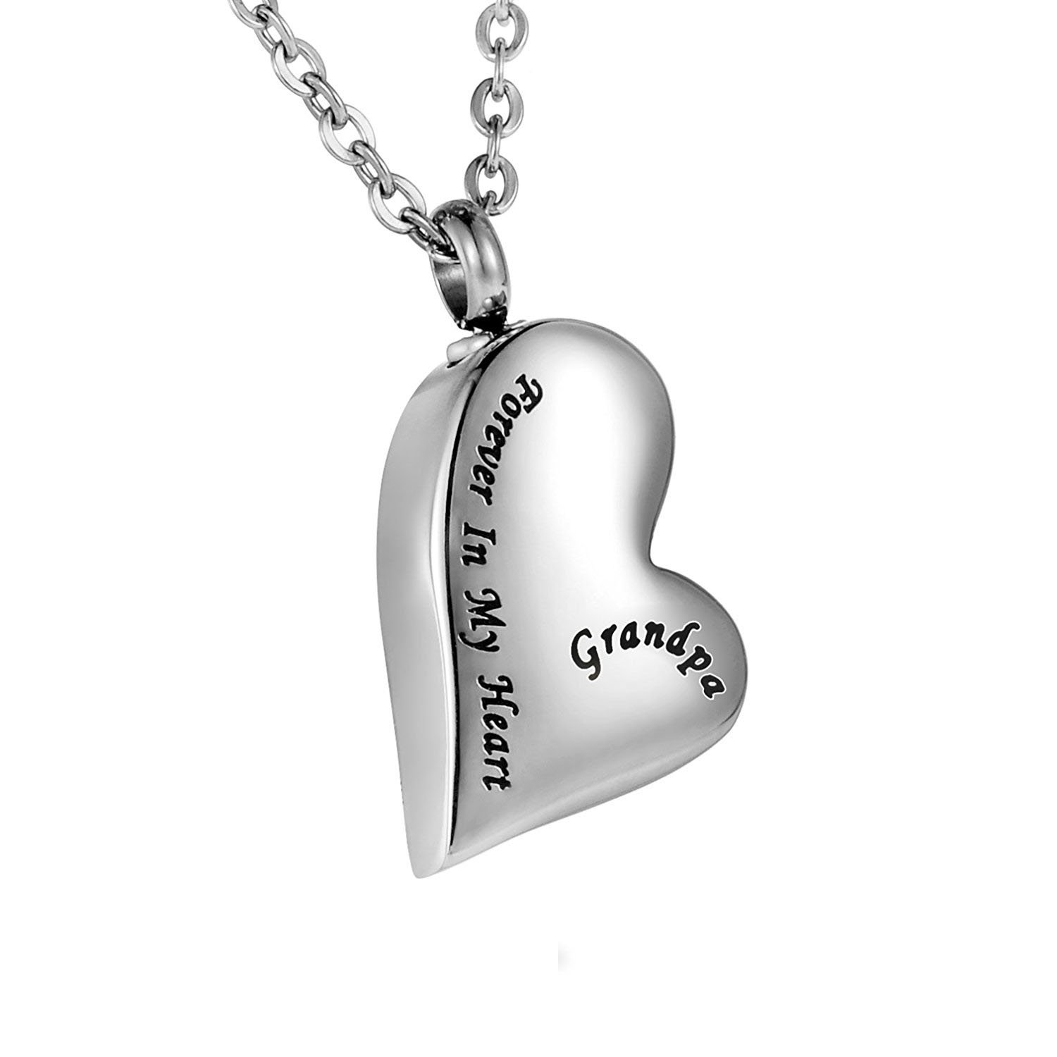 Cremation Urn Ashes Necklace Dad Forever In My Heart Stainless Steel Keepsake Waterproof Memorial Pendant Norya NoryaNYKC002V3