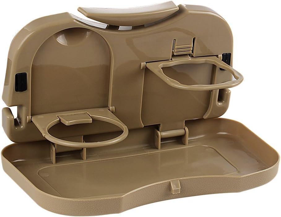 soporte para vasos de coche mesa plegable soporte para escritorio iTimo Bandeja de comida para coche y asiento trasero accesorios para coche beige