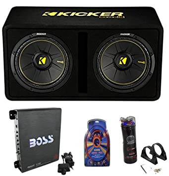 KICKER 44DCWC122 - Subwoofer para Coche (1200 W, Incluye ...