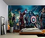 Dizzy Photo Wallpaper Wall Mural Woven Self-Adhesive Art Avengers Marvel Iron Man M05, Non Woven 8 Stripes