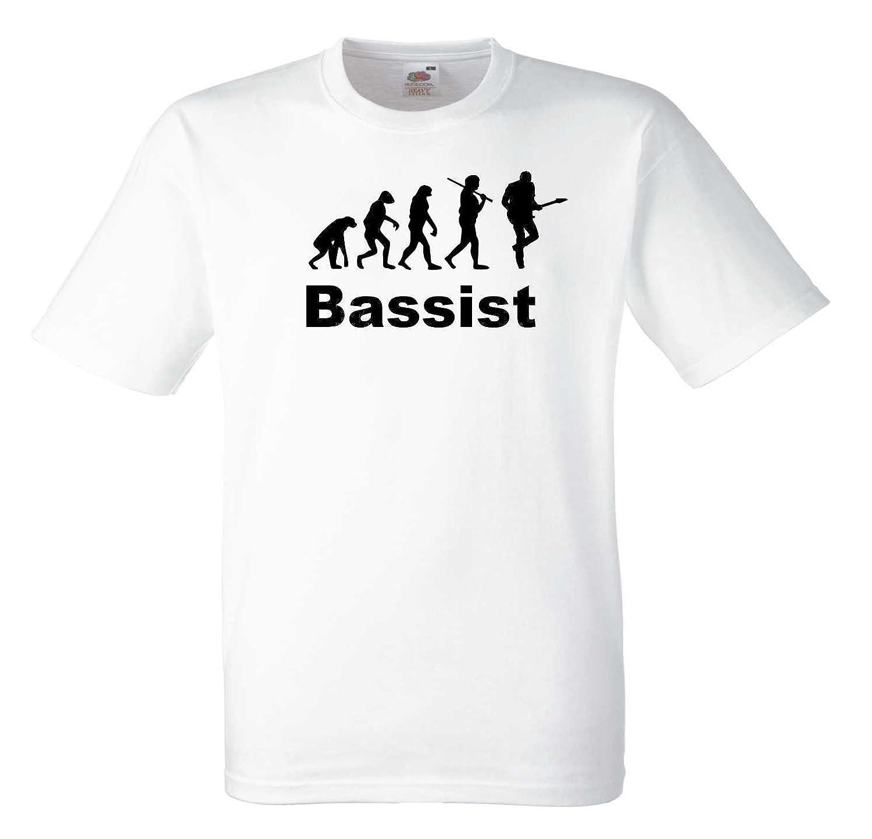Bassist Evolution T480 Unisex T-Shirt, Farbe: weiß, Gr.: XXXL: Amazon.de:  Bekleidung