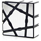 MagiDeal YongJun Irregular Ghost Speed Cube Black Base Magic Cube 1x3x3 Puzzle Magic Cube Smoothly Quicky Twist Adjustable Speed Cube Eco-friendly Durable Material ABS Puzzle Cube for Kids Children Toddler Silver