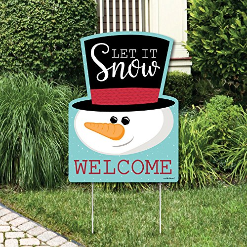 Let It Snow - Snowman - Party Decorations - Christmas & Holiday Welcome Yard Sign