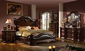 Inland Empire Furniture's Bryce Cal. King Adult 5 Piece Bedroom Set