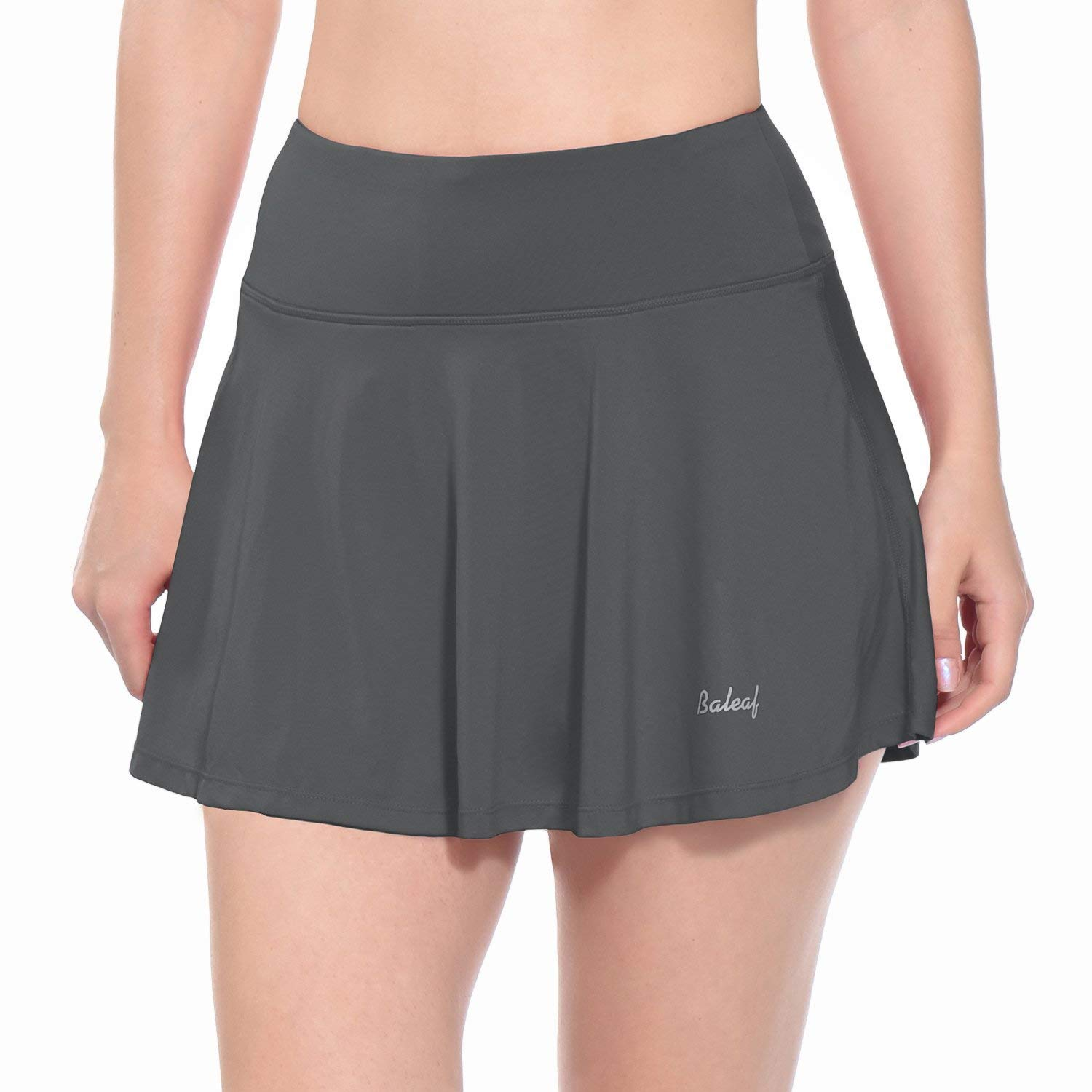 Baleaf Women's Athletic Golf Skirt Tennis Skort Pleated with Pockets Grey Size M by Baleaf