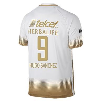 667415424b8 Amazon.com: Hugo Sanchez #9 Pumas UNAM Men Home Jersey 2015-2016 ...