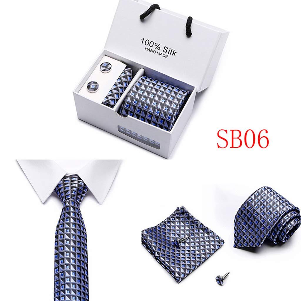 EAPTSMens Necktie Handkerchief Cufflinks Set Extra Long Size Tie Geometric Striped Paisley Jacquard Polyester Silk Woven Business Wedding Party