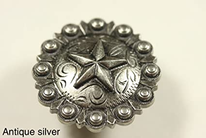 FANCY STAR KNOB AS WESTERN CABINET HARDWARE DRAWER PULLS TEXAS STAR KNOBS  (10)