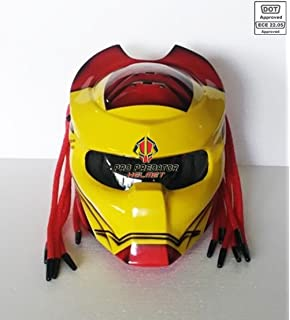 Amazoncom Iron Man Motorcycle Helmet Cover AND Visor Sticker - Motorcycle helmet face shield decals
