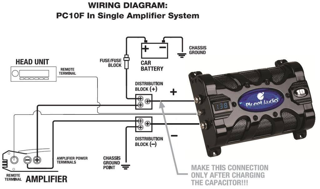 planet audio capacitor wiring wiring diagram sys Car Stereo Color Wiring Diagram
