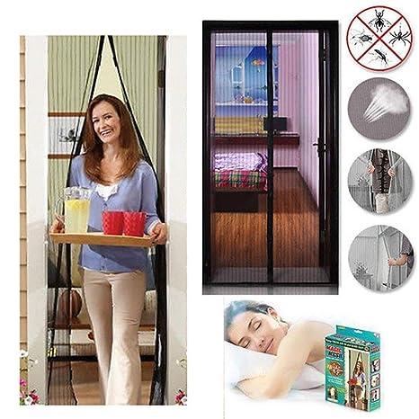 Magic Magnet Single// Sliding House Door Mesh Net Screen Walk Through Anti Pests