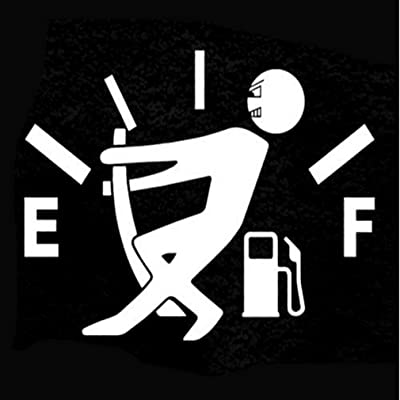 Sourban Funny Fuel Gage Empty Stickers Decal Styling Car Stickers