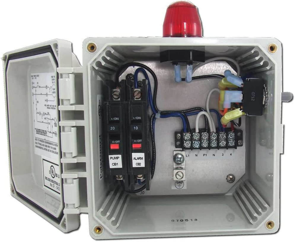 SPI/BIO Pump Control Panel with High Water Alarm (Model 50B010 WHAP)