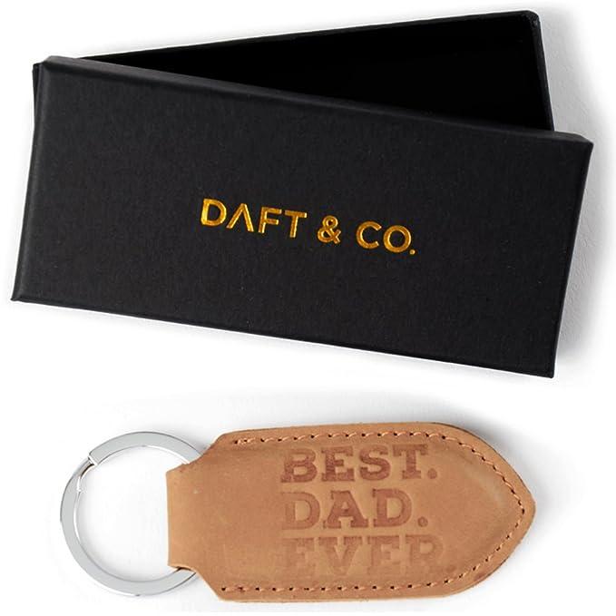 Amazon.com: Daft & Co. Llavero de piel auténtica y caja de ...