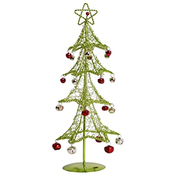 Wire Christmas Tree.Autoark Metal Wire Christmas Tree With Bells Ornaments 15 4 Green Act 005g