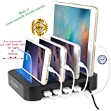 FAST Charging Station, 4 Premium USB ports with DELUXE Universal station all device accessories THAT YOU AND YOUR FAMILY CAN FINALLY BE RELAXED FROM THE CHARGING ISSUE.
