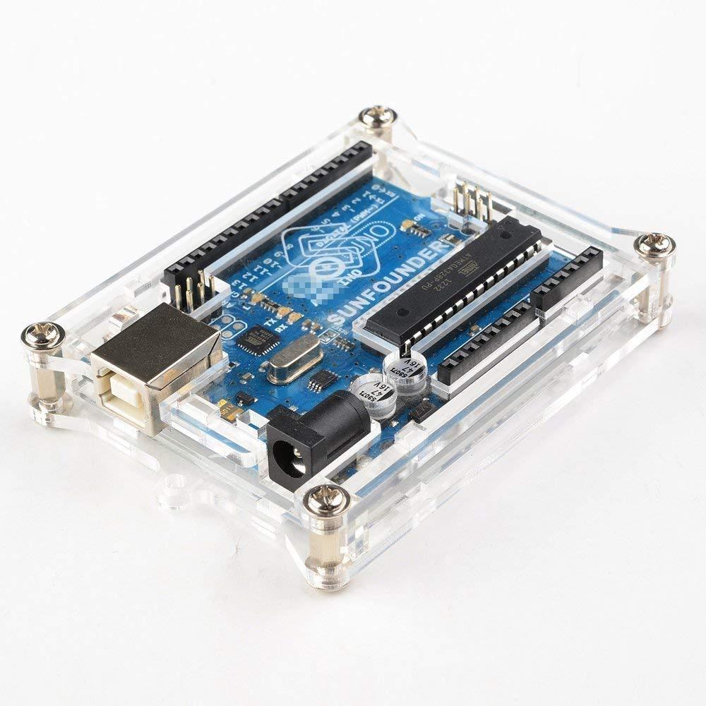 Arduino Uno R3 Sliced Case Enclosure Acrylic Box